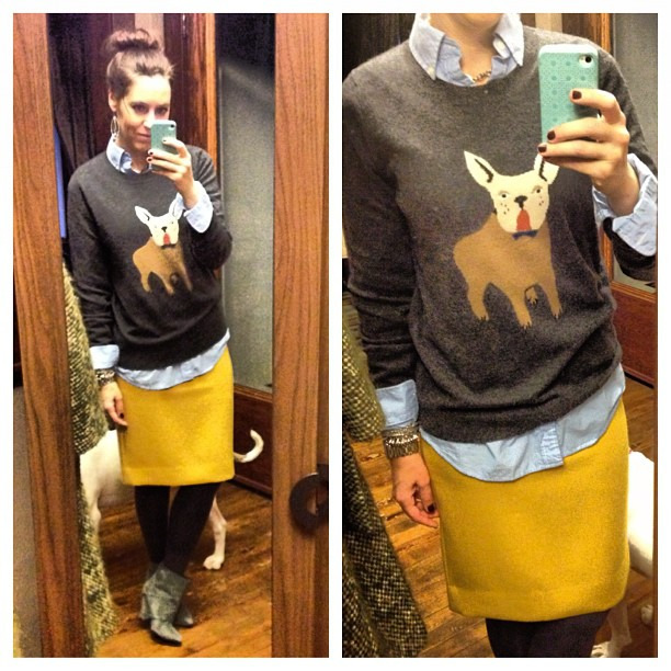 {Today} #ootd #bulldog #jcrew
