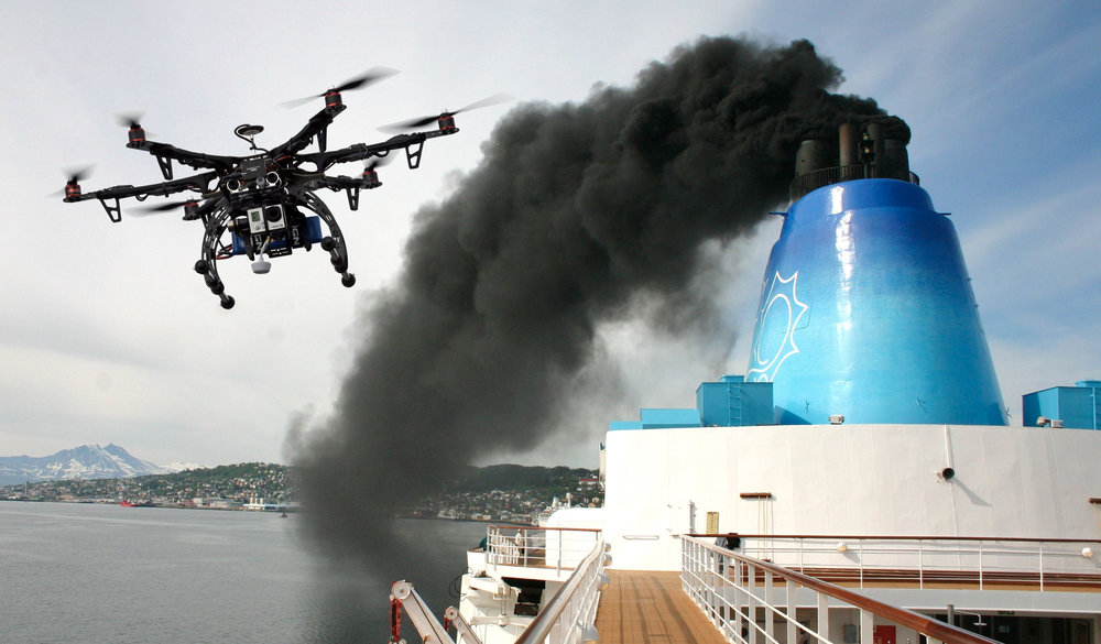 drone controllo emissione aria cuneo piemonte