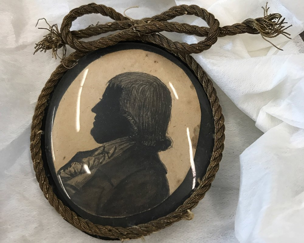 Miniature silhouette of William Ellery, Newport Historical Society collections. With permission from NHS.