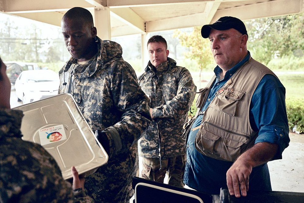Chef  José Andrés  works with his nonprofit World Central Kitchen to help after Hurricane Florence.
