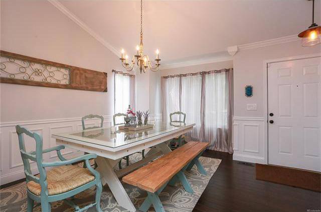 Custom built farmhouse dining table and bench
