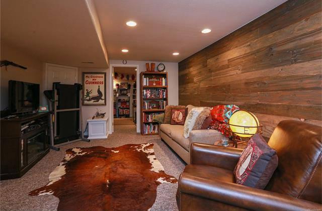 Antiqued barnwood paneled wall
