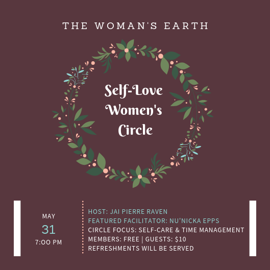 5aa036e91 Self-Love Women s Circle  Time Management. May. 31