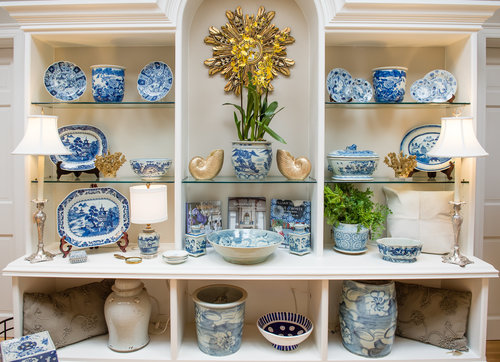 Blue And White Pottery In Swan Coach House Gift Shop