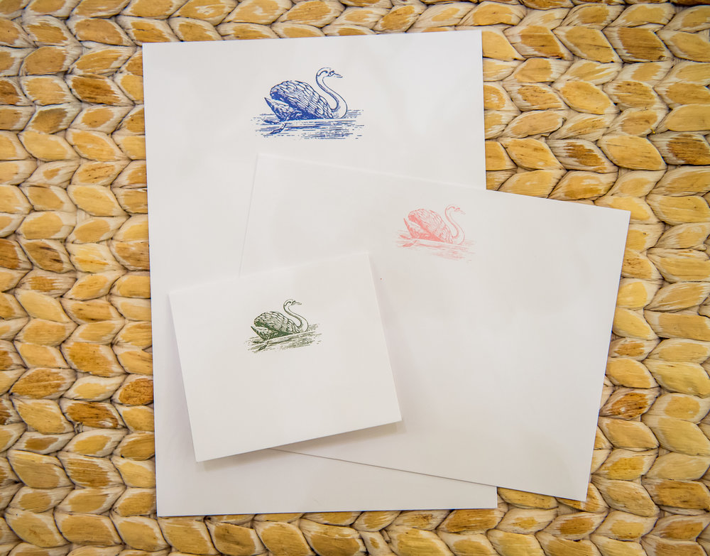 Swan Coach House note cards and place cards