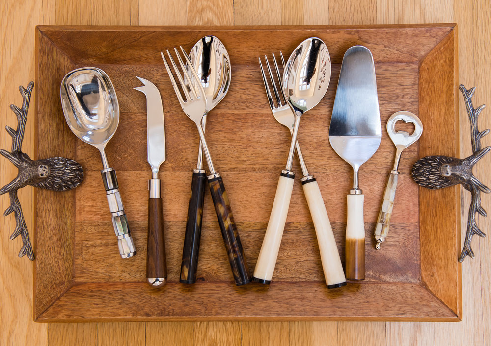 Unique serving utensils, Swan Coach House, Atlanta, GA