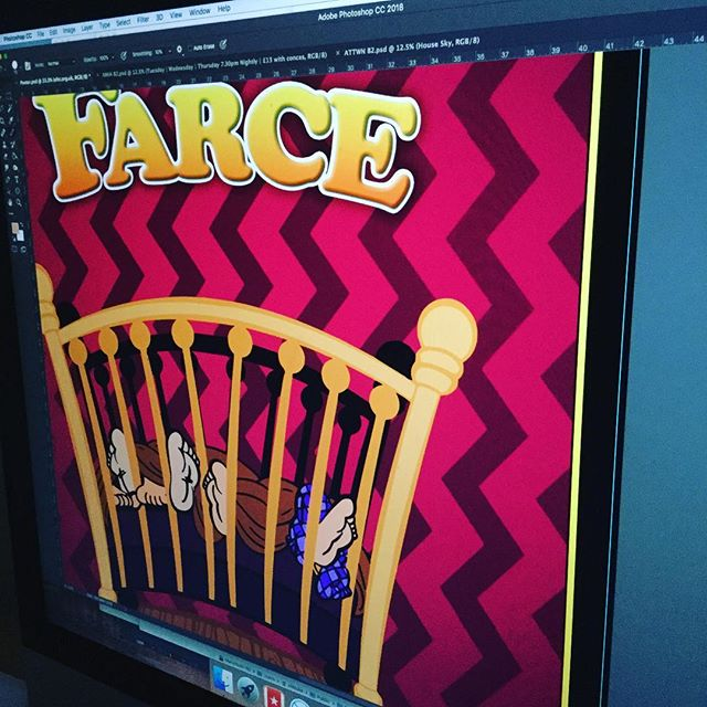 It might well be a Sunday, but we are still busy working away on artwork for clients. #theatre #design #graphicdesign #exeter #amateurtheatre