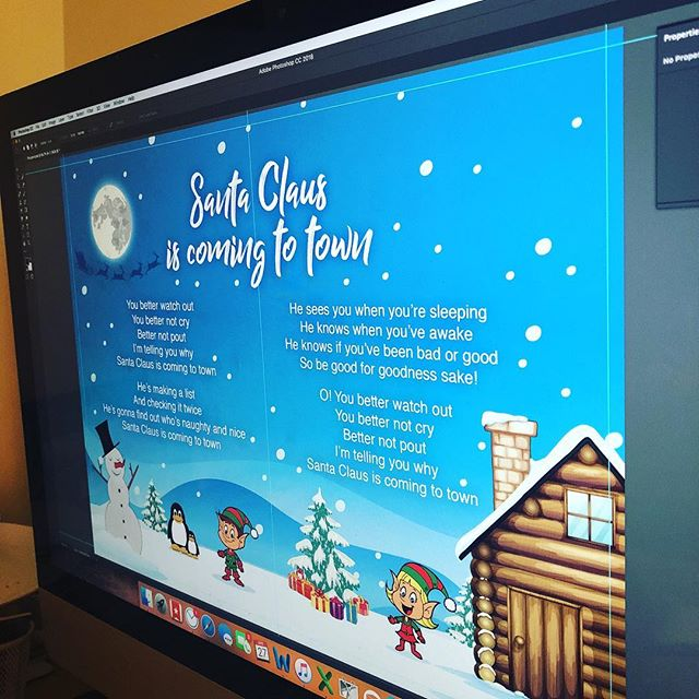 We've moved on from Panto now... but still working on artwork for the same time of year! It's all go here today.... #christmas #artwork #graphicdesign #design #designer #snowy #snowman #elf
