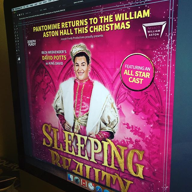 It's a day of pantomime artwork! #pantomime #panto #theatre #wrexham #sleepingbeauty #ibiza #ibizaweekender #davidpotts #eljefe #graphicdesign #design #designer #christmas