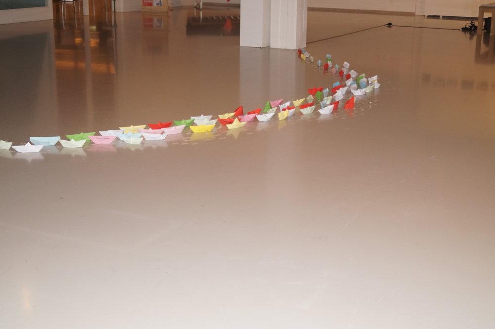 Teacher as conceptual artist installation documentation