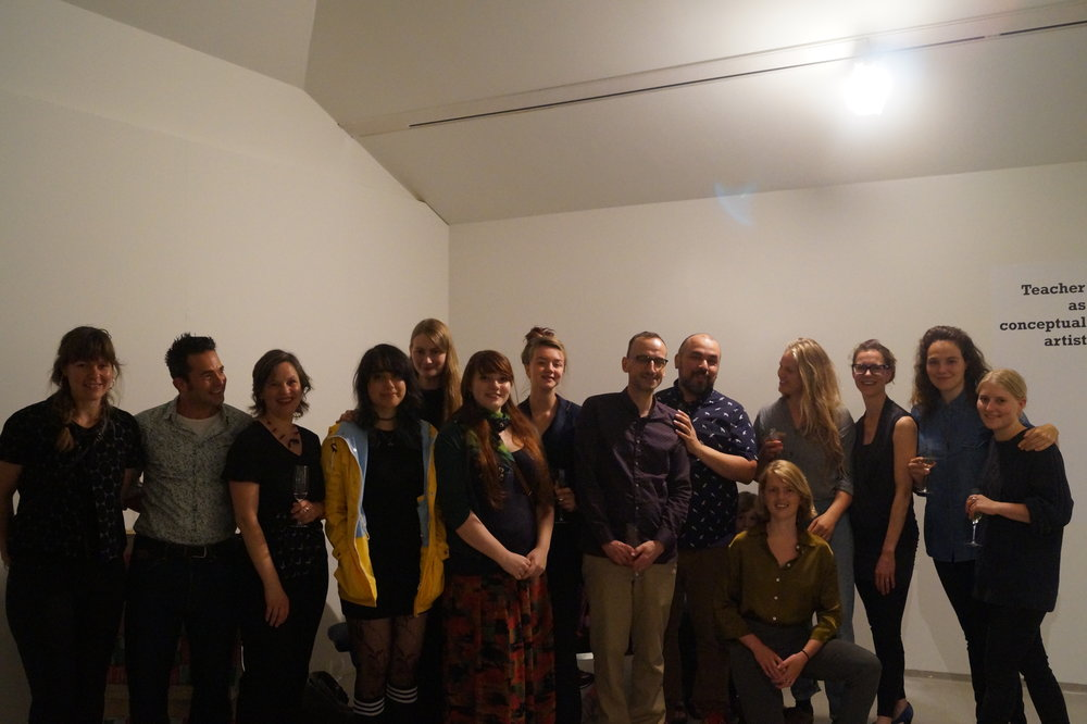 Teacher as conceptual artist opening, teaching-artists group picture