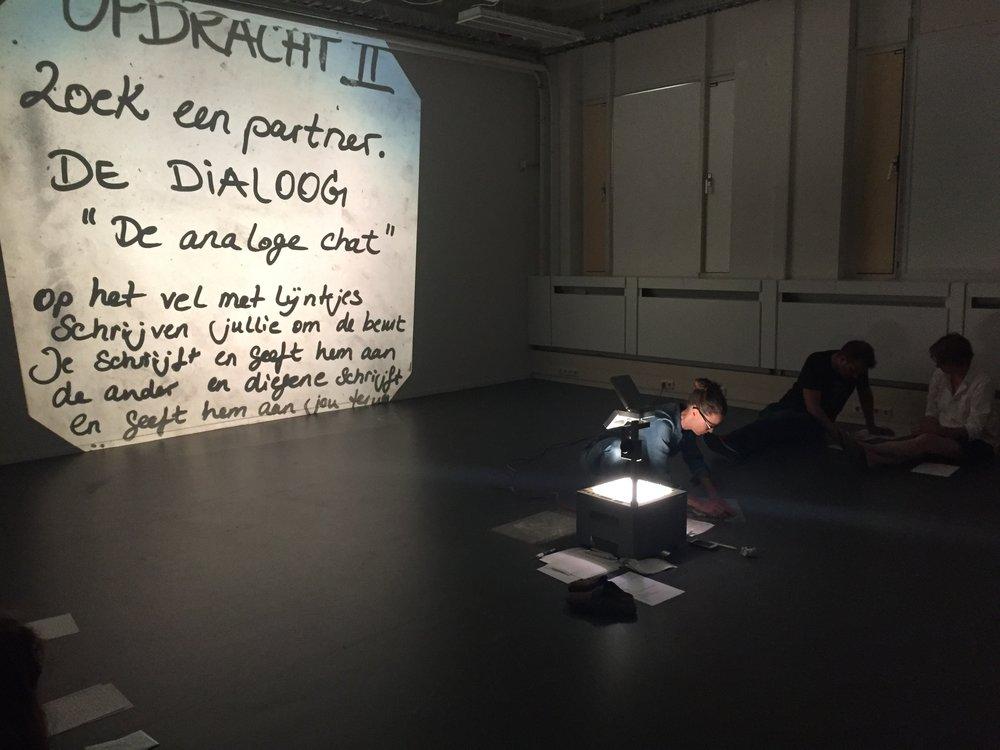Teaching-artist led workshop, Johanna