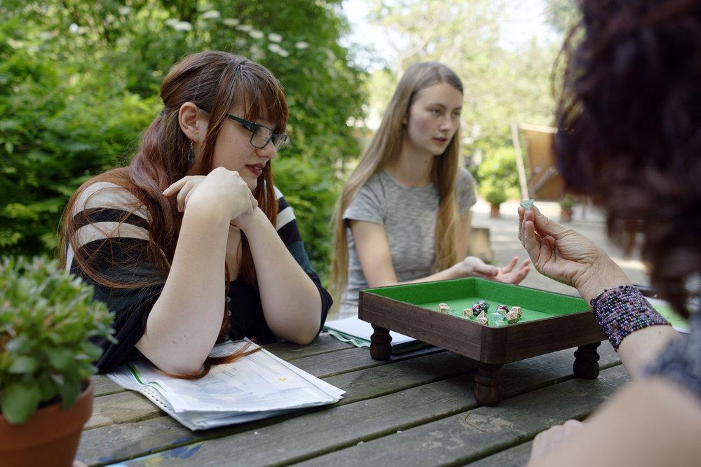 teaching-artist workshop, Jente and Sanne