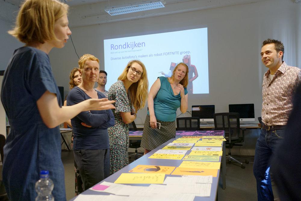 Teaching-artist led workshop, Maarten