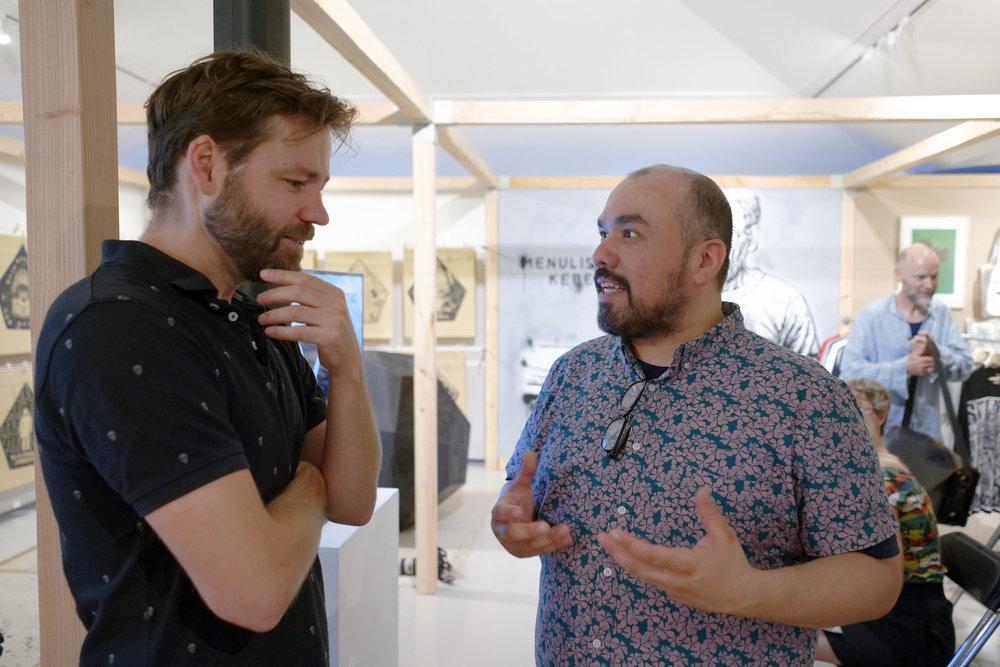 Symposium, in conversation Frank Koolen and Jorge Lucero