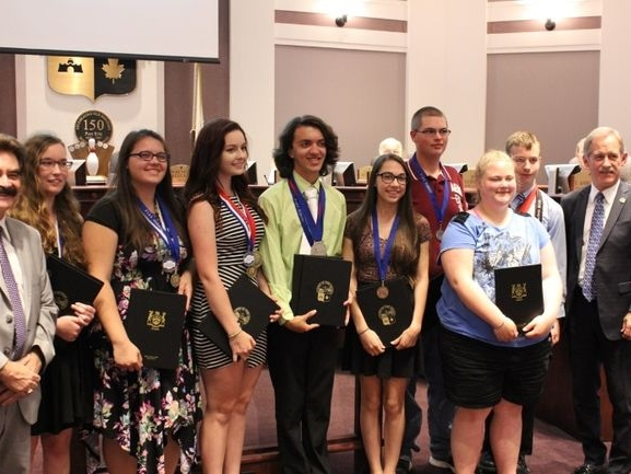 FESS Students Honoured At Town Council - June 22, 2016 - Fort Erie Times
