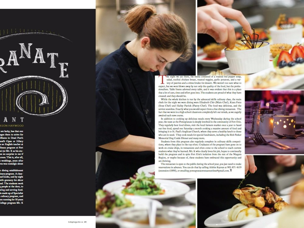 The Pomegranate Restaurant - March/April - Today Magazine