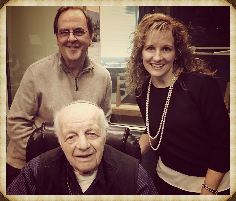 with Moshe Baran, storyteller, history-maker, Holocaust survivor (2015)