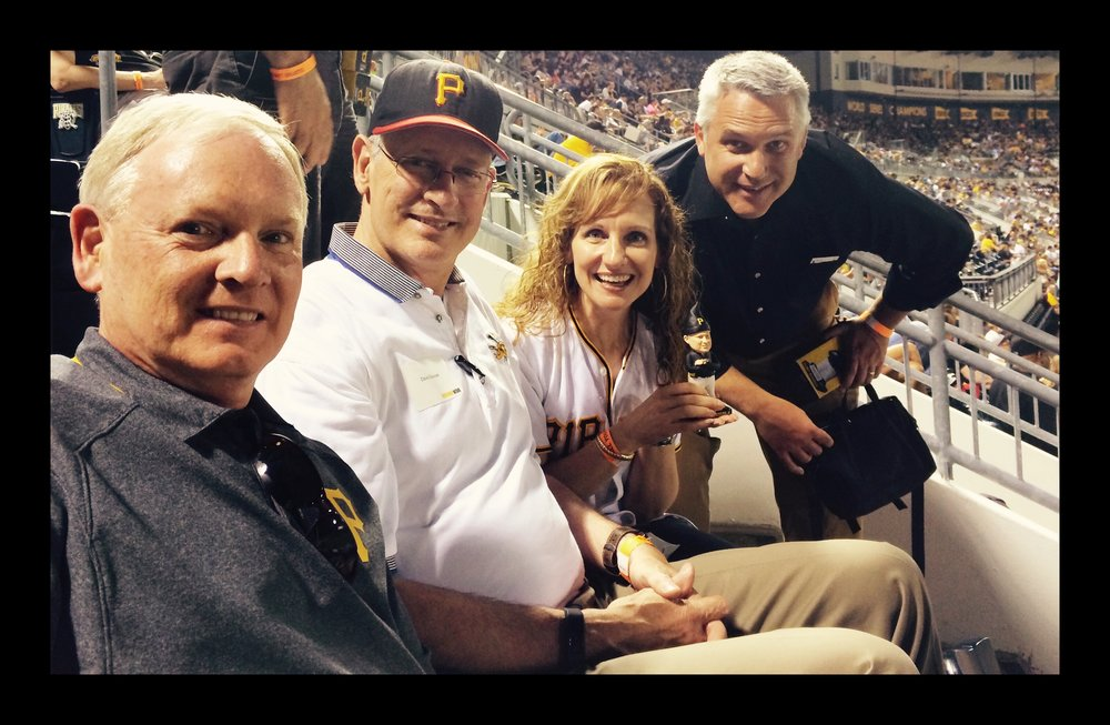 watching the Bucs with Rev Tom Hall, David Greusel (PNC Park lead designer & architect), & Ken MacLeod (2015)