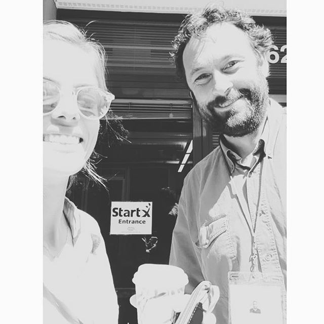 Henrietta & Chris began StartX  this week! A pleasure to meet peers pursuing so interesting companies and technologies! And a few office emotional support animals too ;) 🐶🐶 #startx #stanford #carboculture #founders