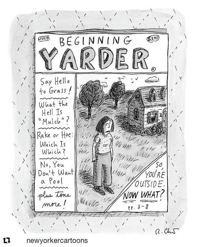 Now.. where do I put all this biochar?! #Repost @newyorkercartoons ・・・ A cartoon by Roz Chast. #TNYcartoons