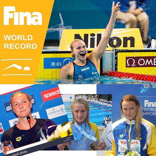 Transformation Tuesday! Sarah Sjöstrom started swimming at 10 and by just 14 years old she broke the Swedish Record in 100 fly... The rest is history.🏆 #legend #motivation #simstagram #sarahsjöström