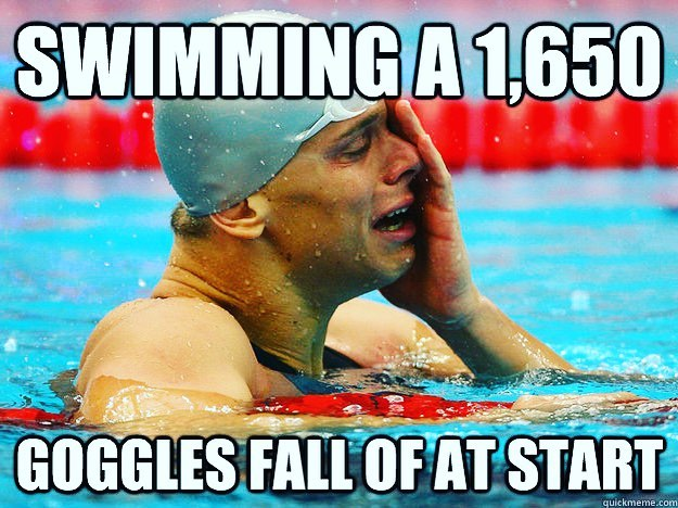 Goggle trouble? Go with swedes, it's a 99% safe card.... or the speed sockets, easily our second choice. What do you wear for important meets? #swimstagram #goggletrouble #swedes #speedo