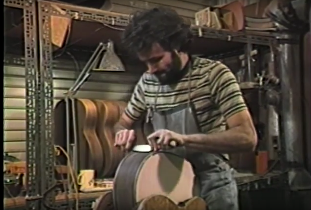 David Iannone circa 1983 apprenticing for Jean Larrivée.