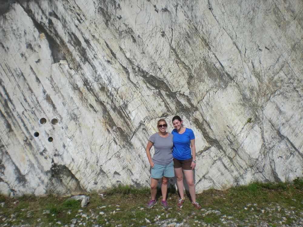 Monte Maggio fault in the Appenines. Heather and me for scale.