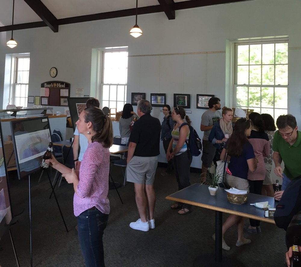 Members of the LDEO community enjoying the 2015 exhibition.