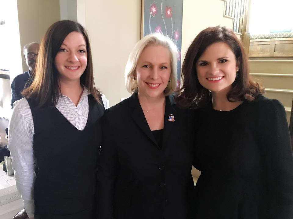 From Left: Jennifer, Senator Kirsten Gillibrand, and Jordan