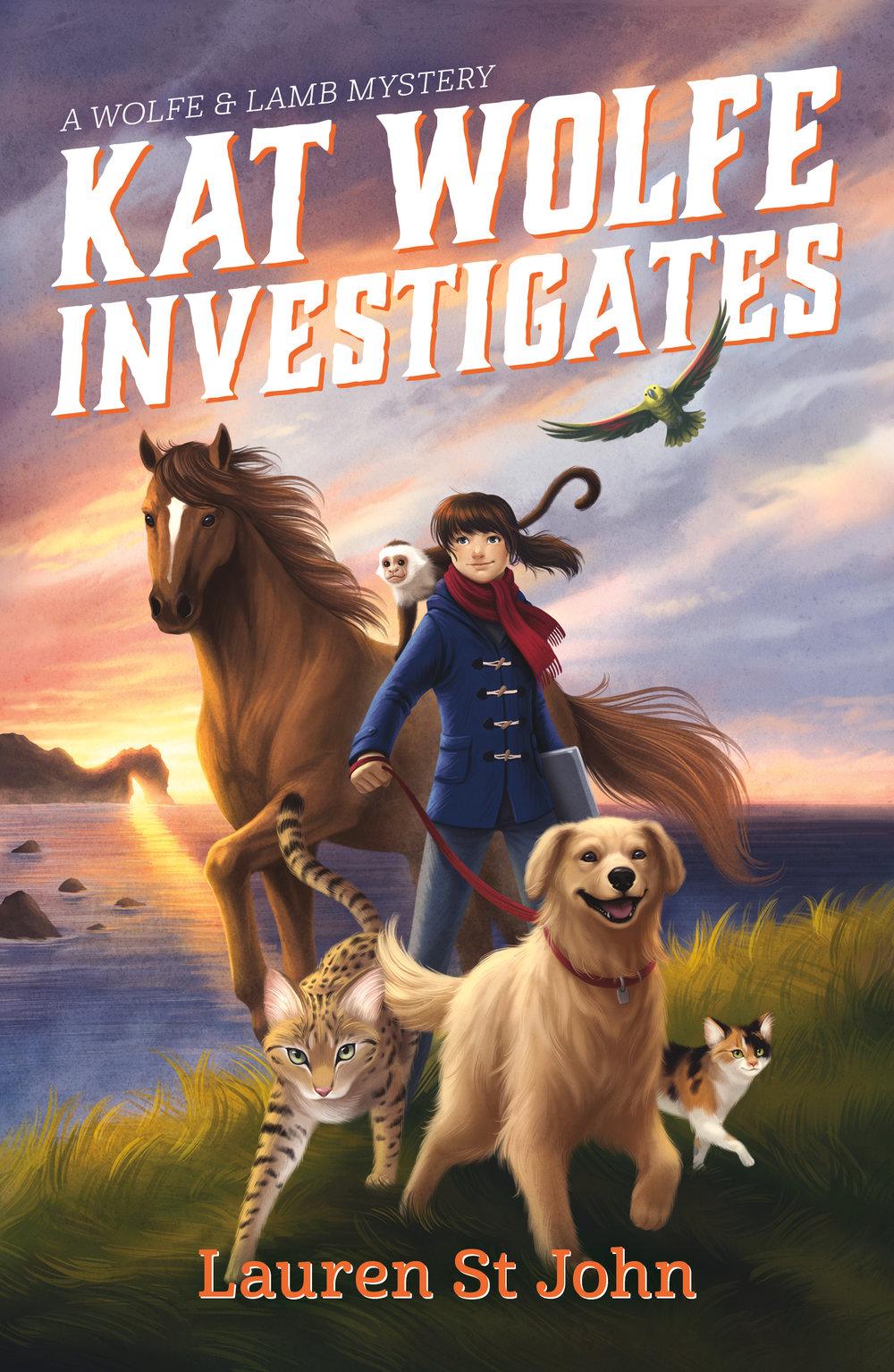 Kat Wolfe Investigates , Lauren St John  For Farrar, Straus and Giroux BYR. Illustration by  Vivienne To .