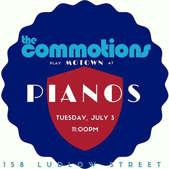 TONIGHT! come celebrate america's finest with us at @pianosnyc • 11pm ••••• #motown #livemusicnyc #motorcity #amurica