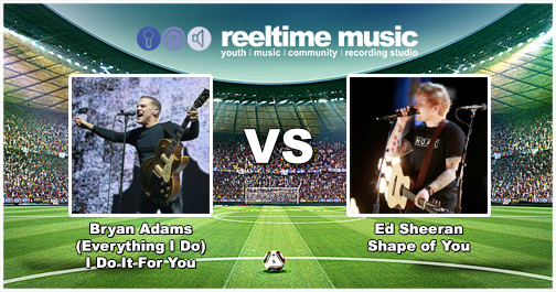 Match Report - On form Ed Sheeran had the edge in a very tight first half however the experience of Bryan Adams carried him through the tie with 60% of the vote