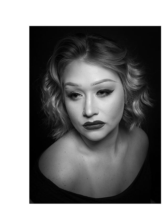 Mary Huffman | Makeup Artist Recently I've been obsessed with glamour Hollywood photographer, George Hurrell. I came across this image of @maryh3206 from 2017 and found happy Hurrell parallels in my earlier work.