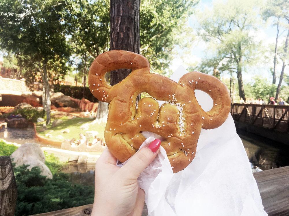 Mickey mouse pretzels at magic kingdom