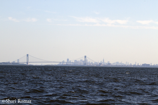 Manhattan skyline from Raritan Bay