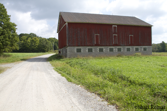 Farm by the Glessner Covered Bridge