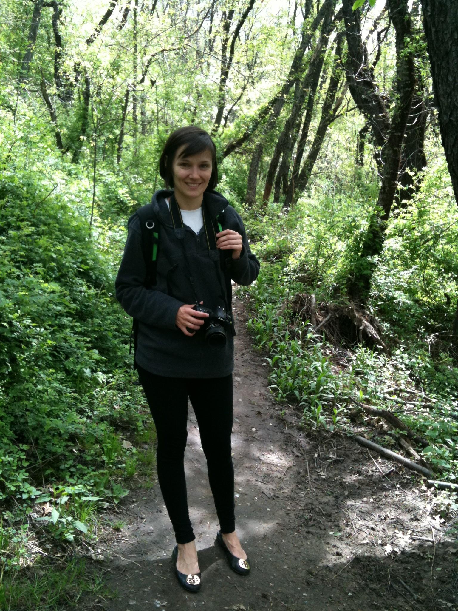 Amanda on a hike