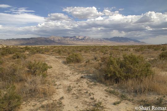 East of Utah's Bonneville Salt Flats