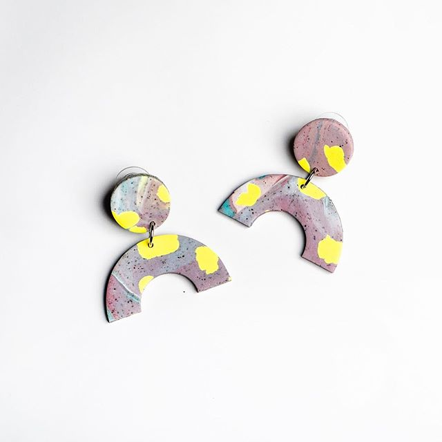 We've been silent on here for a while, but we're excited to announce our new collection of fun & colorful earrings made in collaboration with our friend @eliseballegeer! 🤸�♀�