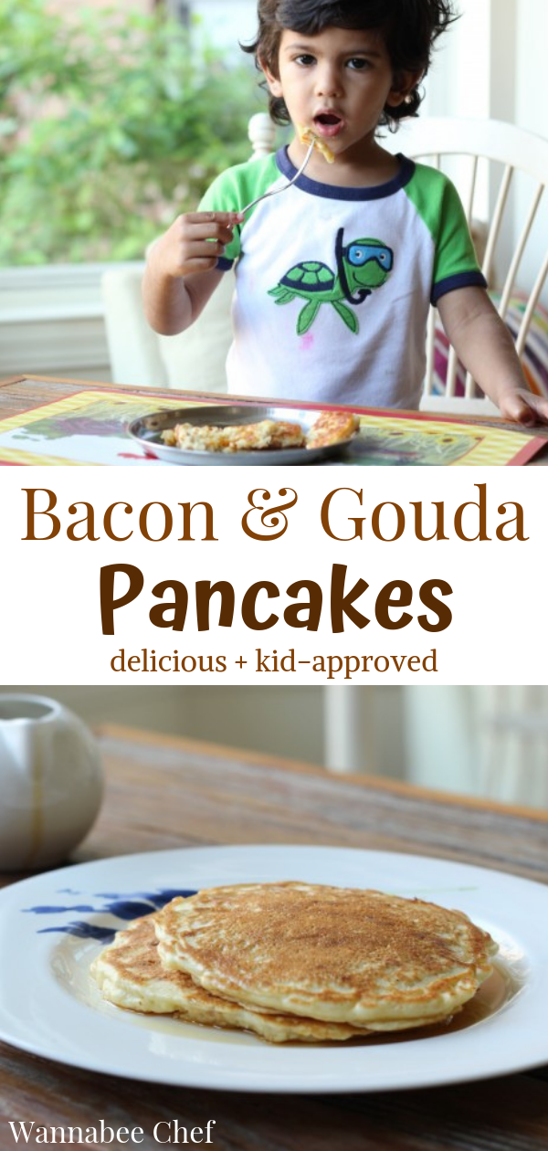 Bacon and Gouda Pancakes | Wannabee Chef