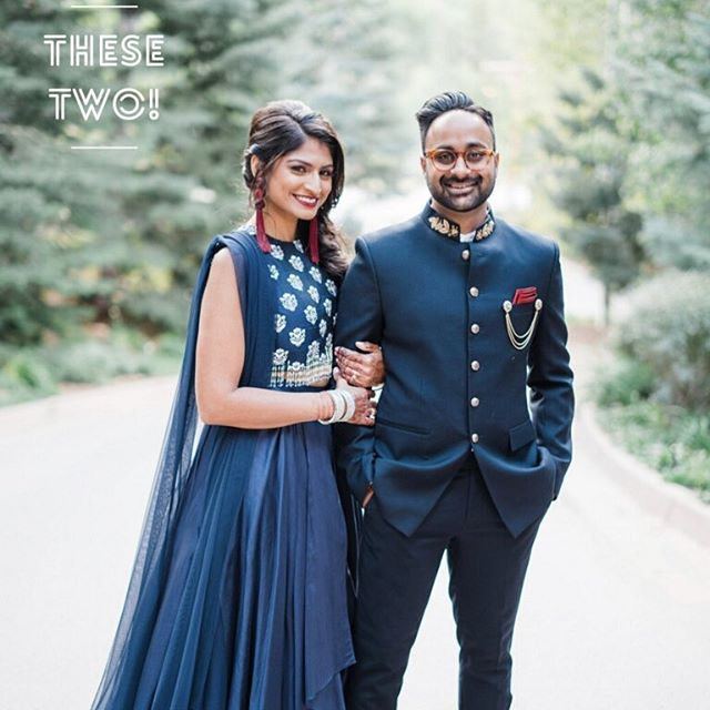 Our beautiful bride & groom Puja & Kunal on the night of their Sangeet.  The last 4 days at Beaver Creeks @ritzcarlton in Bachelor Gulch were magical ones. Have a look at our stories to see a recap of this amazing wedding.  We ❤️ you #PuiiKuii 📷 @jamesandschulze