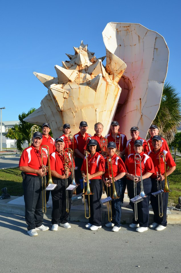 Yvonne and other band members pictured at the Conch Republic Parade in Key West, Florida.