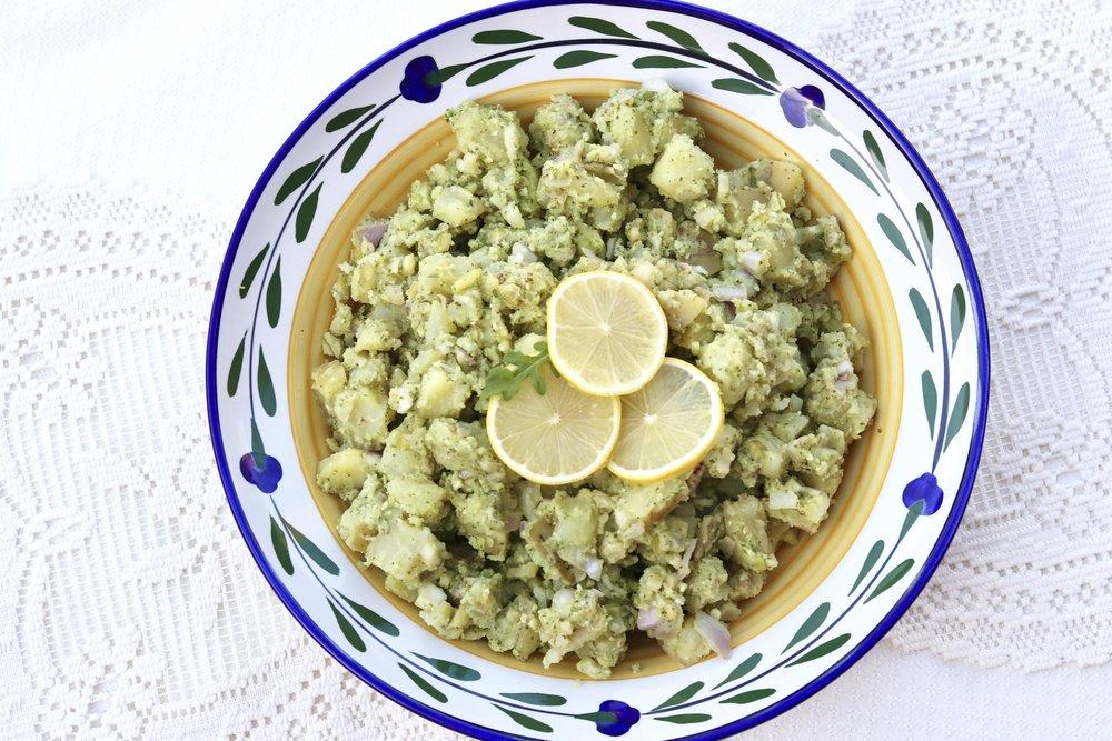Lemon Arugula Potato Salad