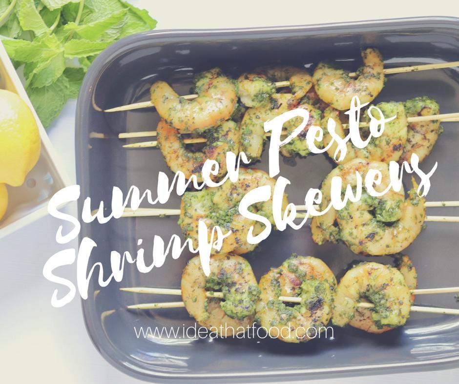 Summer Pesto Shrimp skewers I'd Eat That Food