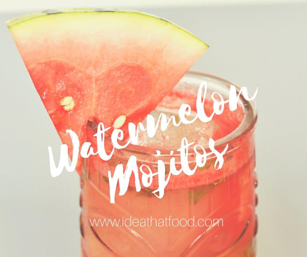Watermelon Mojitos I'd Eat That Food