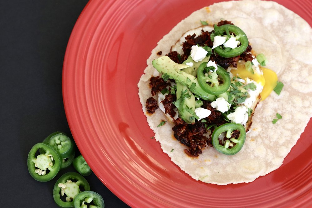 Vegetarian Cauliflower Chorizo Breakfast Tacos I'd Eat That Food