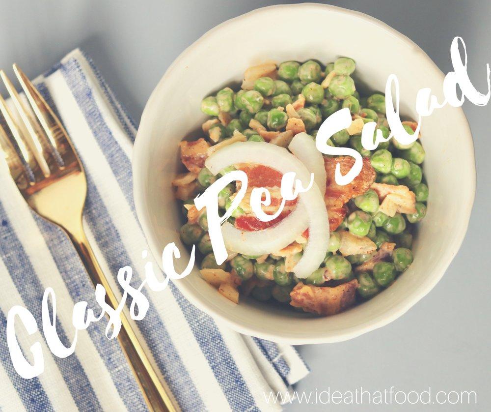 Classic Pea Salad I'd Eat That Food