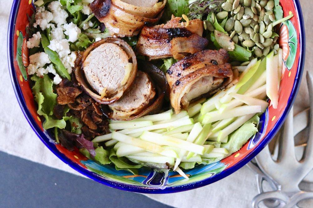 Bacon Apple Pork Salad I'd Eat That Food
